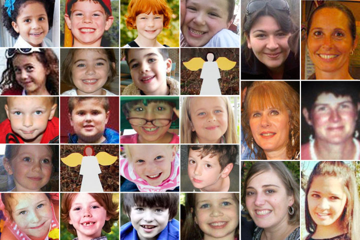 Students and staff killed at Sandy Hill Elementary School, Newtown, CT