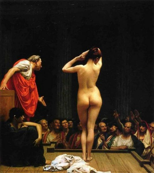 Jean-Leon Gerome: Selling Slaves in Rome
