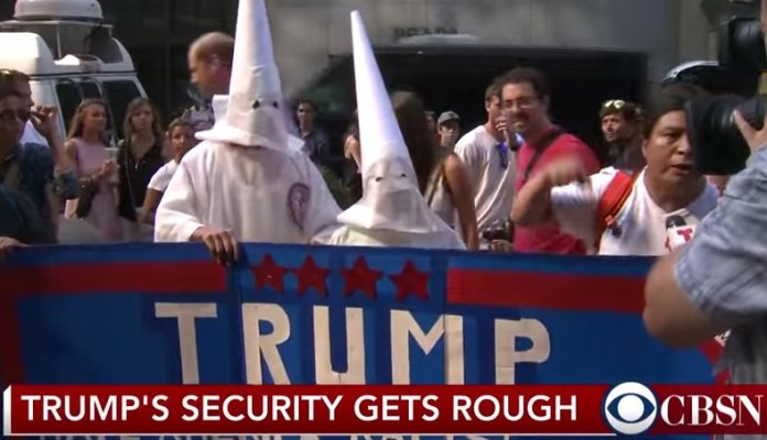 Donald Trump endorsed by the ku klux klan