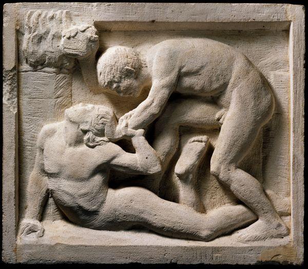 Cain and Abel by Adolf von Hildebrand Marburg