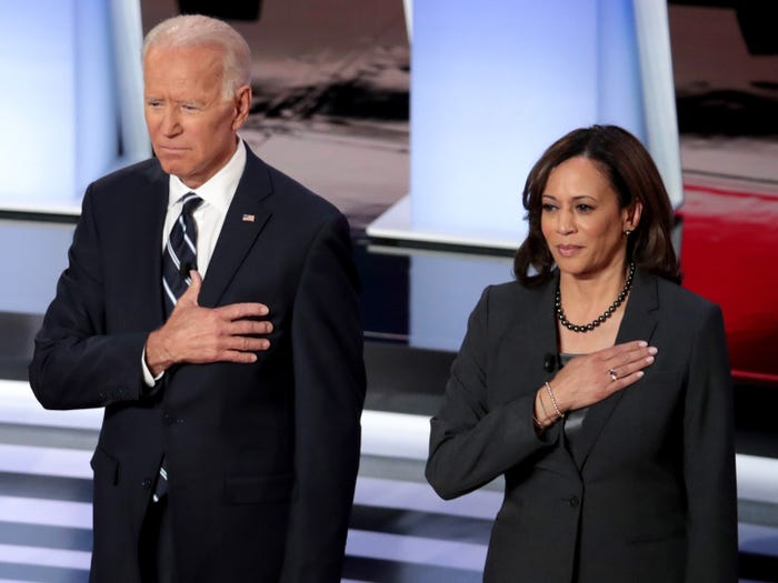 Biden and Harris